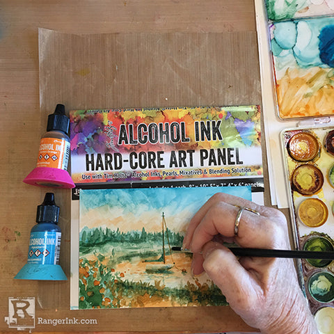 Alcohol Ink Hard-Core Art Panel Painting Step 8
