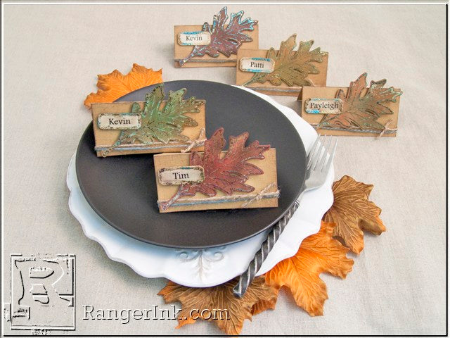 Fall Foliage Place Cards by Patti Behan | www.rangerink.com