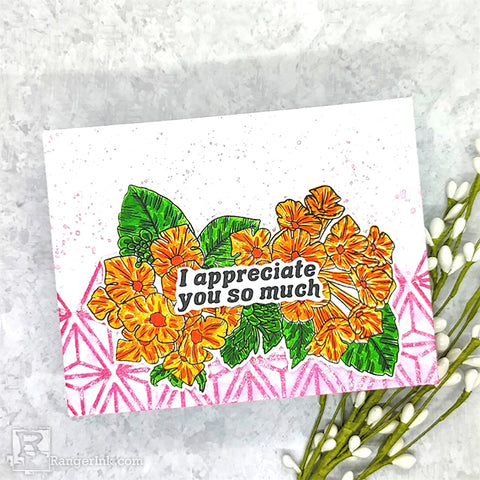Faux Shimmer Watercolor Background Card Step 8