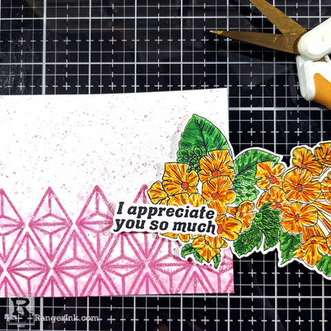 Faux Shimmer Watercolor Background Card Step 7