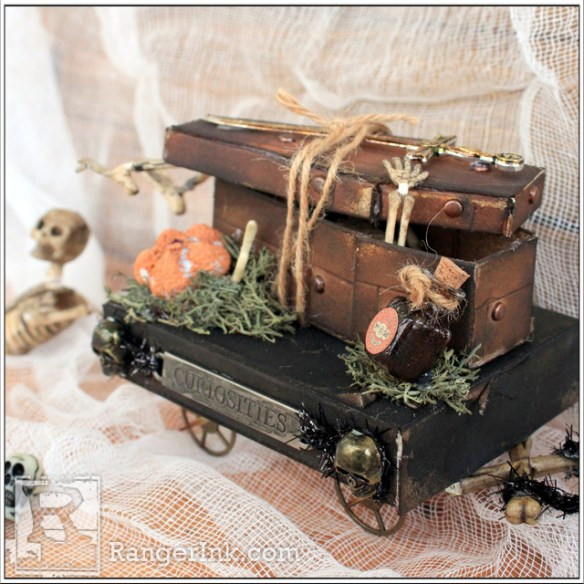 Faux Wood Coffin Curiosities by Nicole Wright