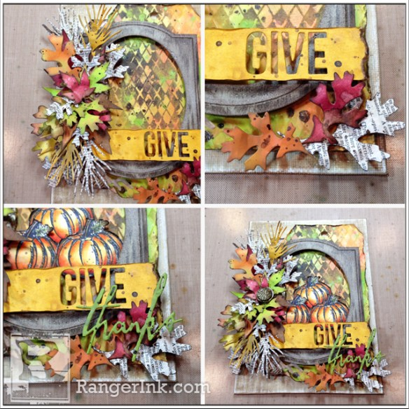 Give Thanks Autumn Canvas by Bobbi Smith