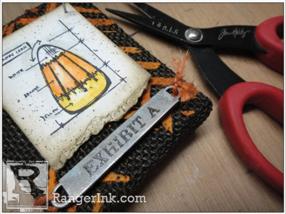 Halloween Burlap Panels by Tim Holtz | www.rangerink.com