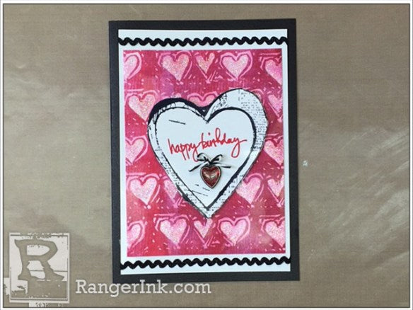 Happy Birthday Heart Card by Patti Behan | www.rangerink.com