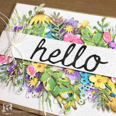 Hello Spring Distress Oxide Card by Bobbi Smith Step 11