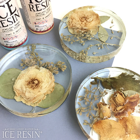 Dried Floral Coasters by Taylor Huizenga