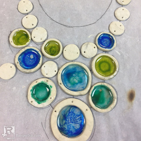 QuickCure Clay ICE Resin Circle Necklace Step 6