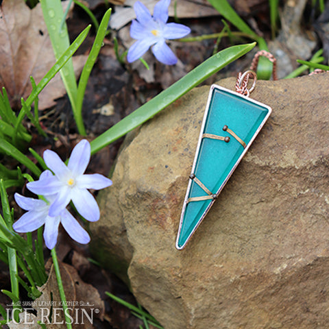 Turquoise Blue Pendant by Melissa Winters