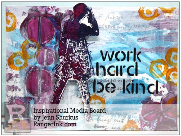 Inspirational Media Board By Jenn Shurkus | www.rangerink.com
