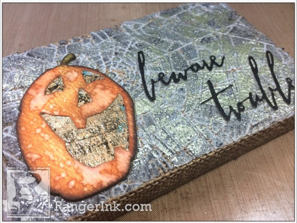Ghostly Halloween Mixed-Media Canvas by Zoe Hillman | www.rangerink.com