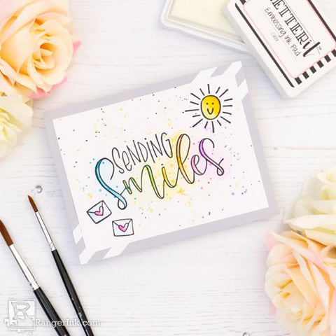 Sending Smiles Card by Laura Volpes