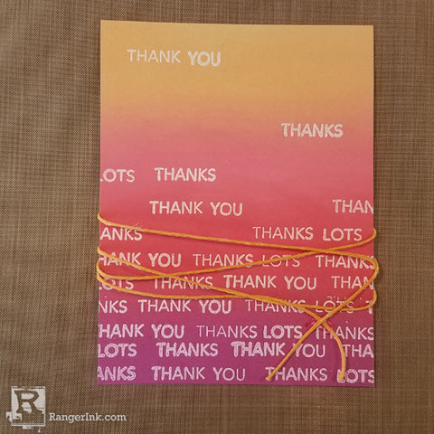 Letter It Thank you Card Step 5