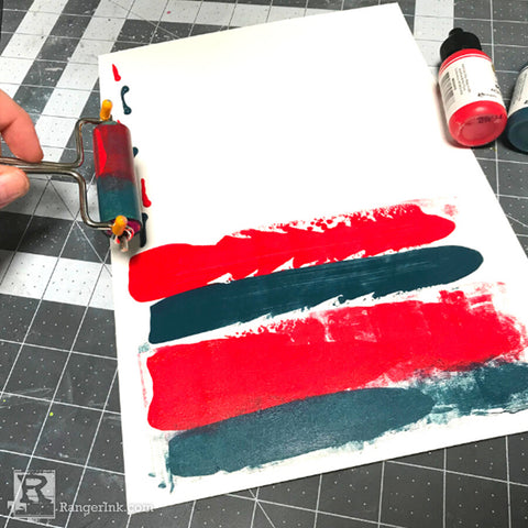 Mixed Media Fourth of July Scrapbook Page Step 2