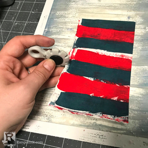 Mixed Media Fourth of July Scrapbook Page Step 6