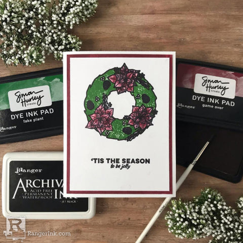 Posh Poinsettia Wreath Card by Jess Francisco