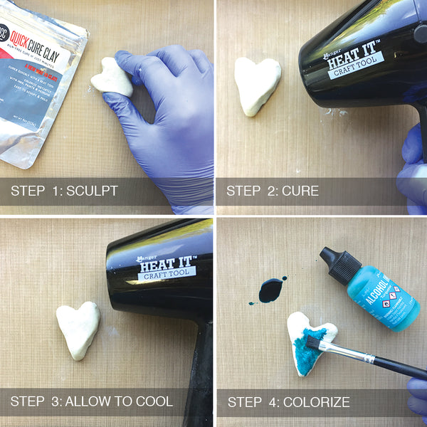 Ranger QuickCure Clay 4 Steps