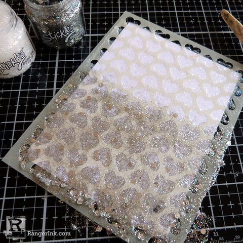Ranger Stickles Glitter Gel Card Step 2