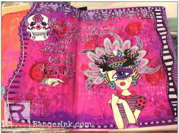 Remarkable Woman Journal Spread by Denise Lush