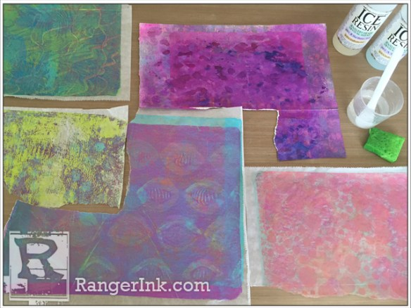Resin Paper Mini Book by Kathy Paglia | www.rangerink.com