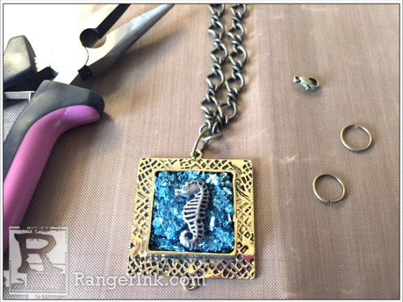 Seahorse Faux Druzzy Necklace by Misty Grosse