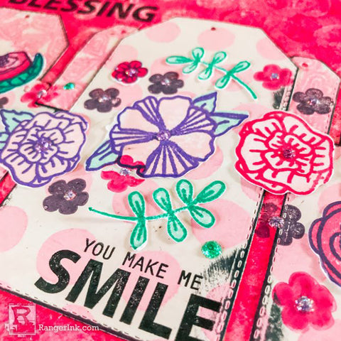Simon Hurley create. Doodle Floral Journal Step 11a