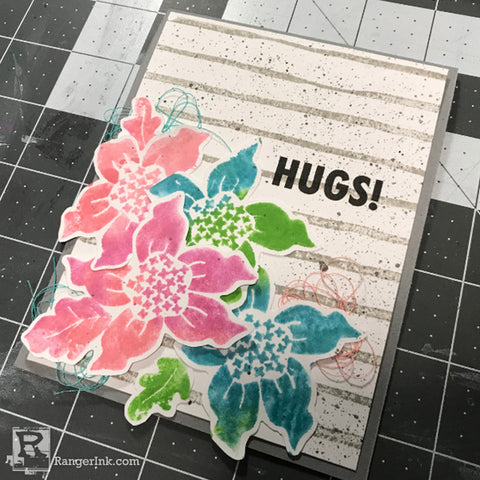Simon Hurley create. Hugs Card Step 8