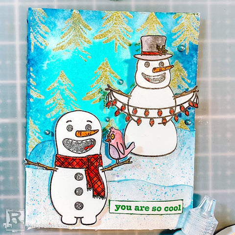 Snazzy Snowmen Card Step 10