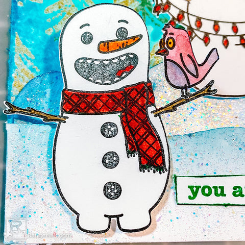 Snazzy Snowmen Card Step 9