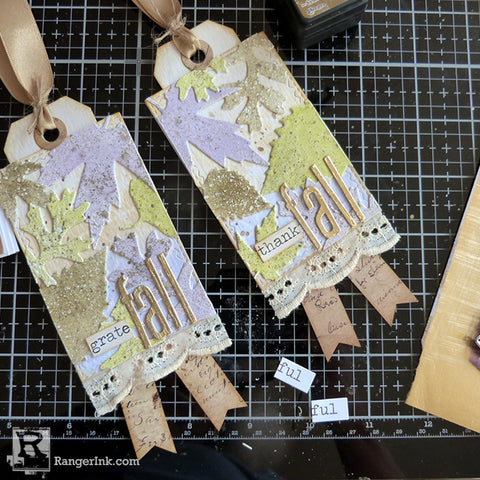 Speckled Embossing Powder Tags Step 10