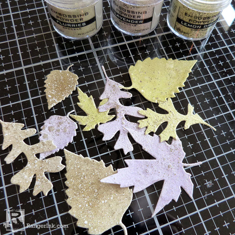 Speckled Embossing Powder Tags Step 3