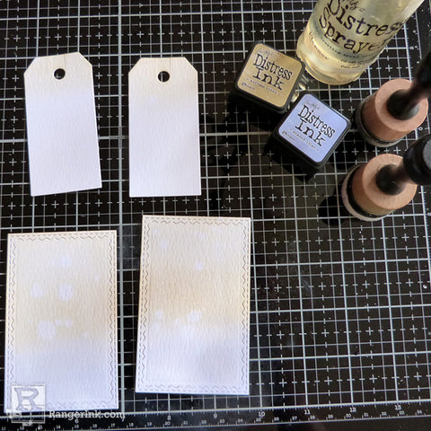 Speckled Embossing Powder Tags step 5
