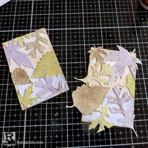 Speckled Embossing Powder Tags Step 7