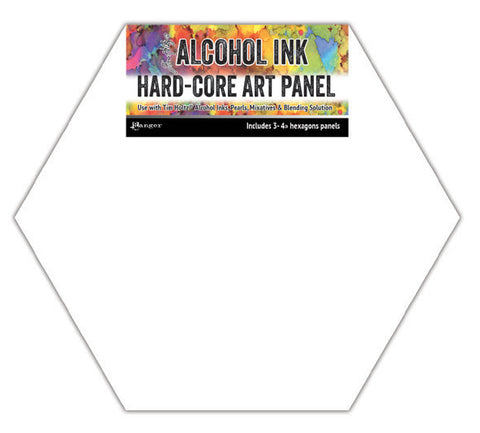 Alcohol Ink hard-core art panel