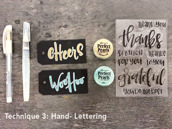 Perfect Pearls Hand-Lettering