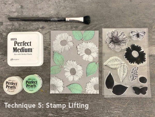 Perfect Pearls Stamp Lifting