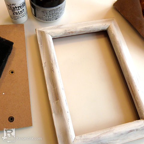 Tim Holtz Distress So Lucky Frame step 1