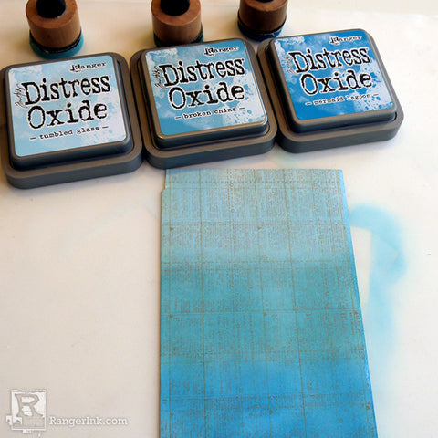 Tim Holtz Distress So Lucky Frame step 2
