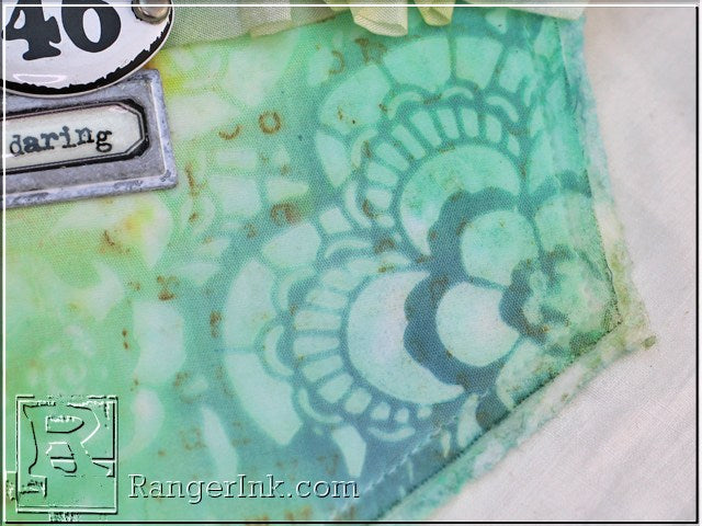 Transparent Texture Paste Resist on Fabric by Tammy Tutterow | www.rangerink.com