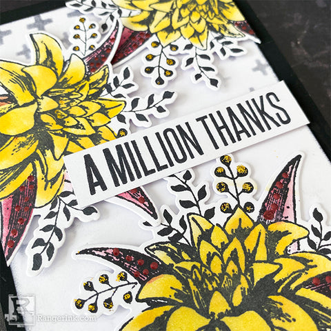 A Million Thank Archival Ink Card Closeup