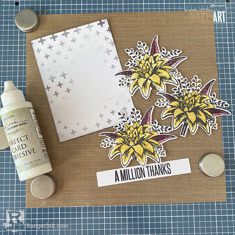 A Million Thank Archival Ink Card Step 8