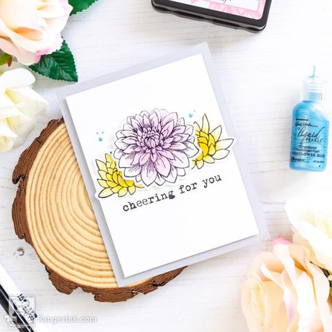 Cheering for You Blendable Dye Ink Card by Laura Volpes