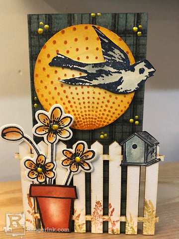 Wendy Vecchi MAKE ART Garden View 3D Collage Step 12