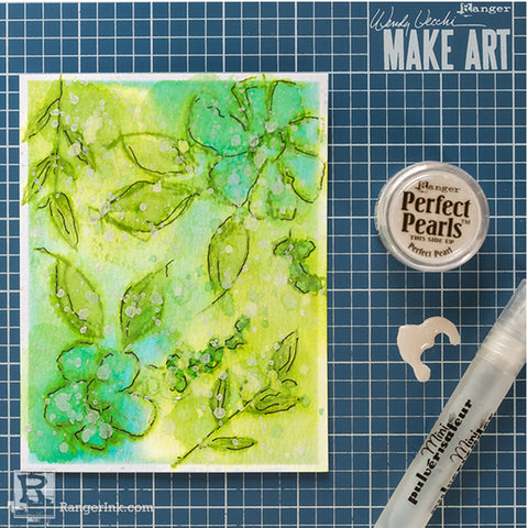 Wendy Vecchi Watercoloured Flowers Card Step 3