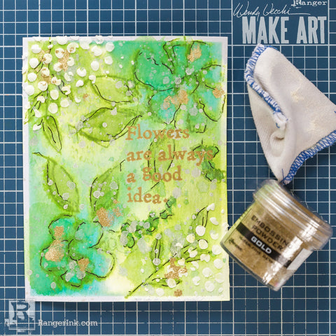 Wendy Vecchi Watercoloured Flowers Card Step 5