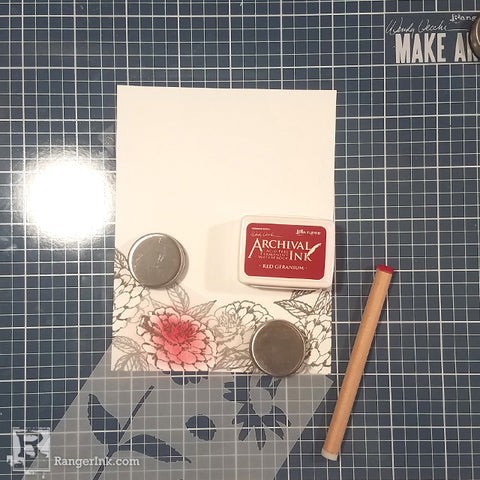 Wendy Vecchi MAKE ART Thinking of You Card Step 2