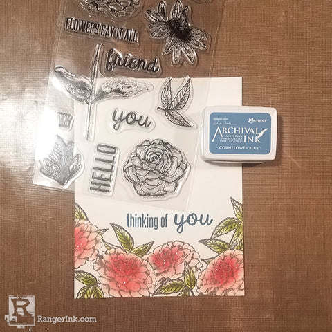 Wendy Vecchi MAKE ART Thinking of You Card Step 5