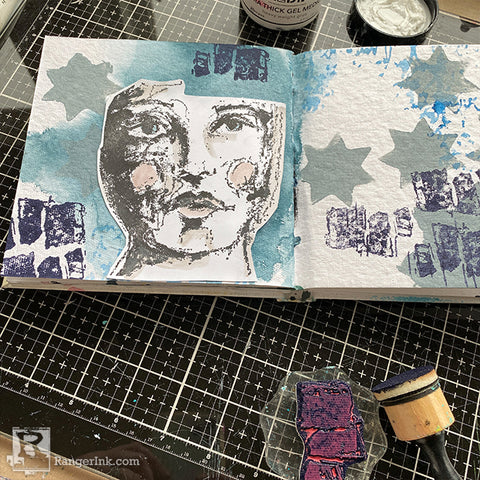 Wintery Journal Page Step 6