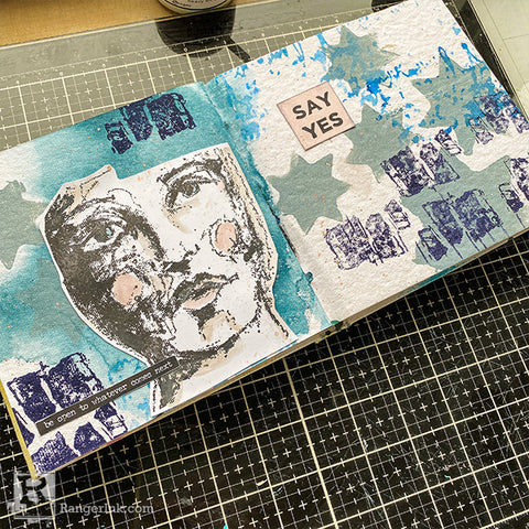 Wintery Journal Page Step 8