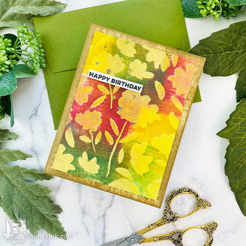 Archival Ink™ Fall Patchwork Background Card by Joy Baldwin