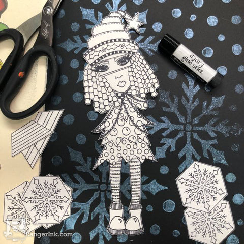 Dylusions Hats Off To Christmas Journal Step 6